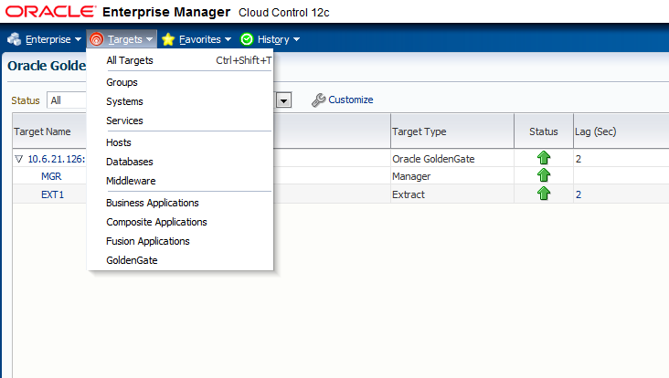 Oracle cloud control 12c data guard gap