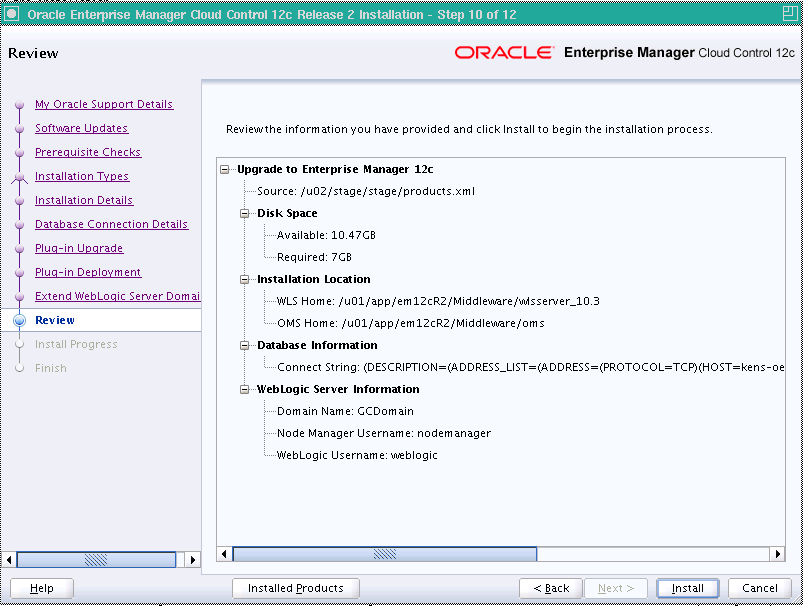 Upgrading EM12c Release 1 (12 1 0 1) to 12c Release 2 (12 1 0 2